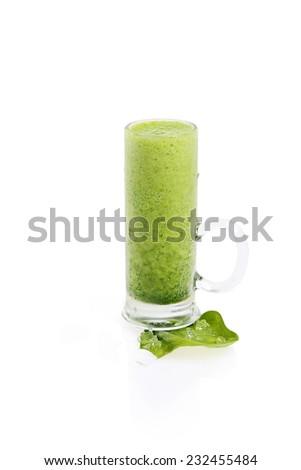 green smoothie shot - stock photo