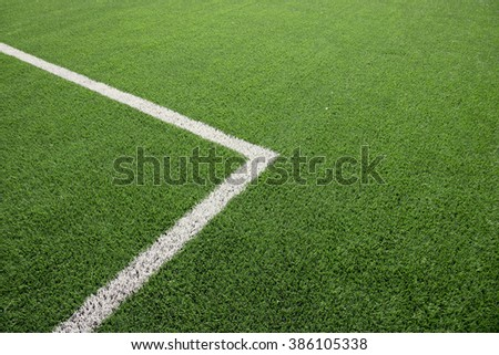 green soccer field with the corner texture background