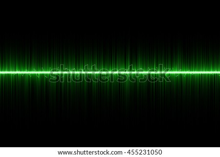green sound wave background
