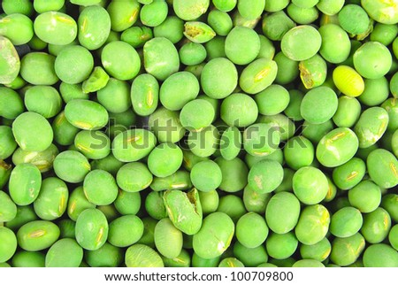 Green soy beans - stock photo