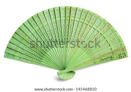 Green spanish fan - stock photo