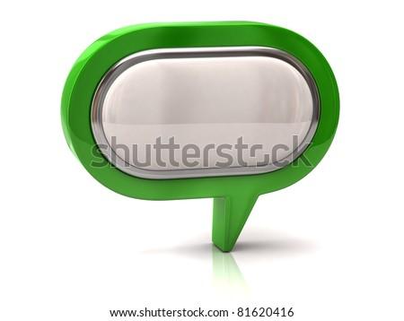 Green Speech bubble - stock photo