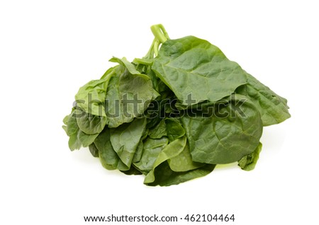 Green Spinach Isolated On White Background