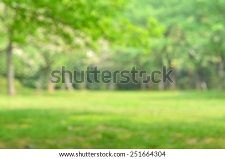 Green spring garden defocused abstract background   - stock photo