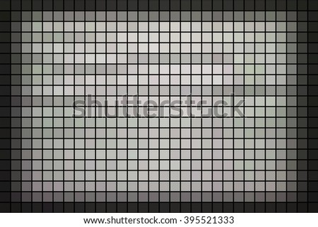 Green square mosaic  background borders or space between tiles
