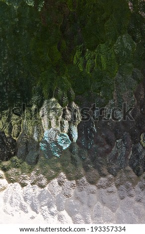 Green Stained Glass - stock photo