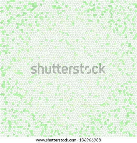 Green stained glass  texture. Design and art concept. Abstract background - stock photo