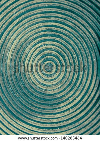 Green stained wooden bowl  - stock photo