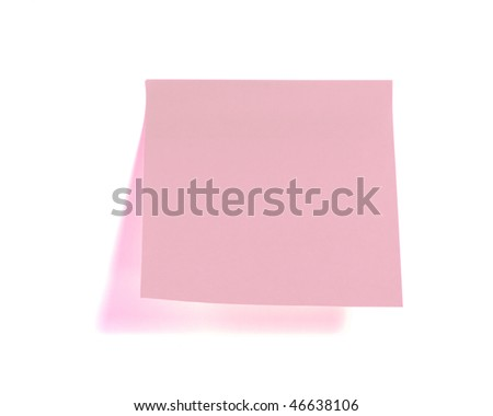 green sticky paper isolated on white