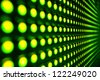 Green stretch of LED lights - stock photo