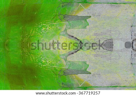 green stucco with paint