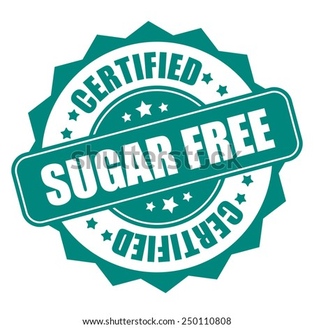 green sugar free certified icon, tag, label, badge, sign, sticker isolated on white - stock photo