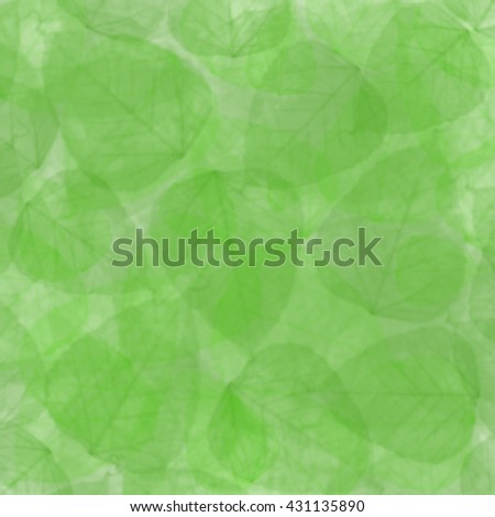 green summer leaves background - stock photo