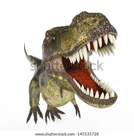 green t rex - stock photo