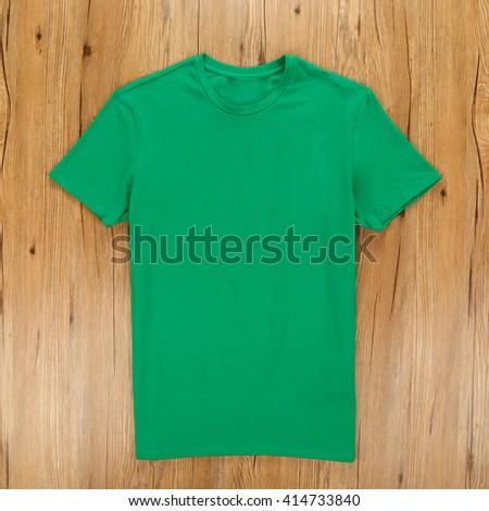 Green T-Shirt - stock photo