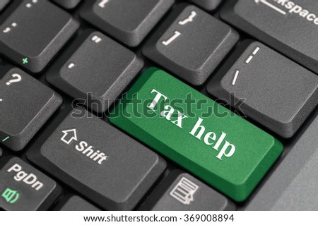 Green tax help key on keyboard