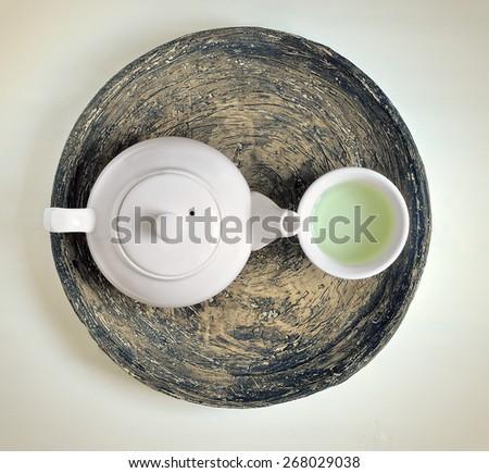 Green tea concept - stock photo