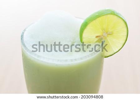 green tea smoothie - stock photo