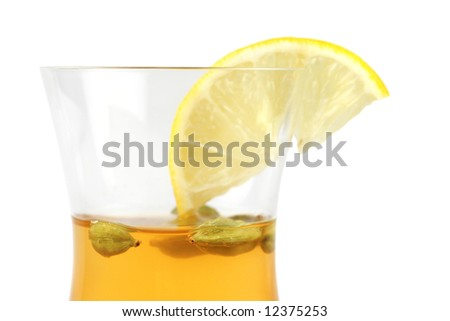 green tea with lmon and cardamom