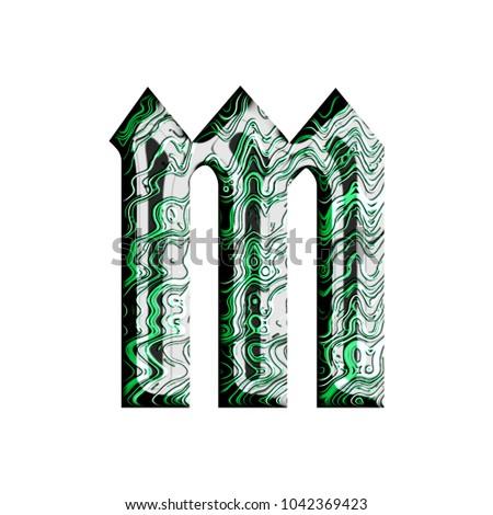 Green Tech Wires Metallic Style Lowercase Stock Illustration ...