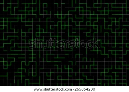 green technology glowing lines abstract background with beautiful pattern - stock photo