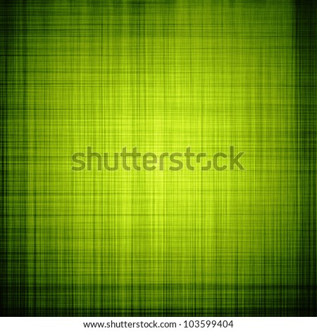 Green textured background with fibers and vignette - stock photo