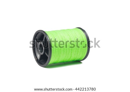 green thread isolated on white background
