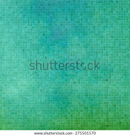 green tiles - abstract textured background - stock photo