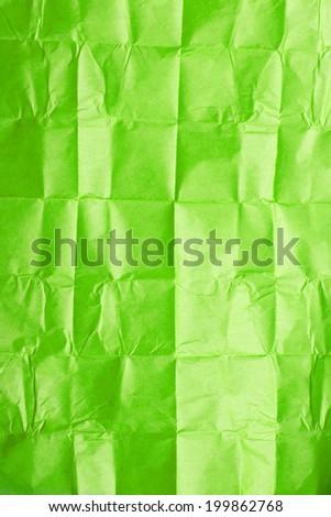 green tissue paper - stock photo