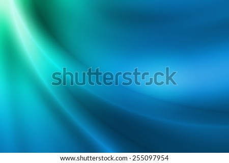 green to blue gradient abstract background with glossy curve line - stock photo