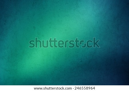 green to blue gradient grunge abstract background - stock photo