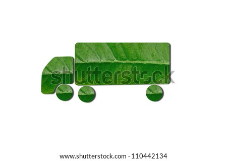 Green Truck for Eco Concept. Check out my gallery for more eco collection - stock photo