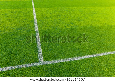 Green turf for sport arena