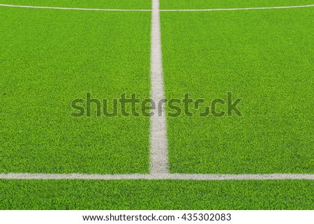 Green turf for sport arena.