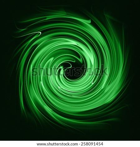 Green Twirl - stock photo