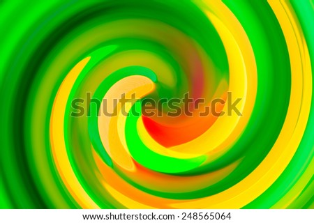 Green twirl circular wave Background.