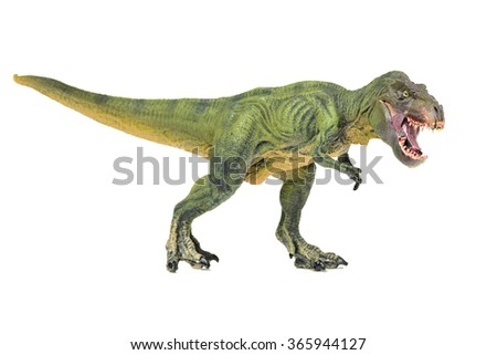 green tyrannosaurus on white background