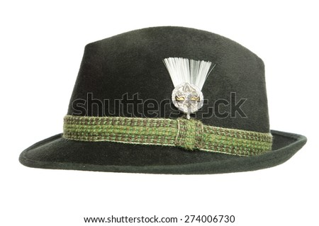 Green Tyrolean Ocktoberfest Bavarian hat cutout