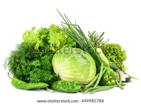 Green vegetables - stock photo