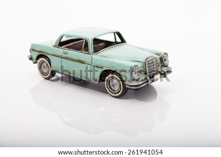 Green vintage toy 1957 Ford car