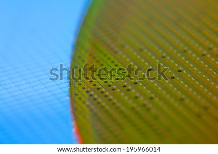 Green Wafer - stock photo