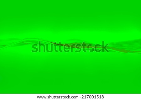 Green water and bubbles background - stock photo