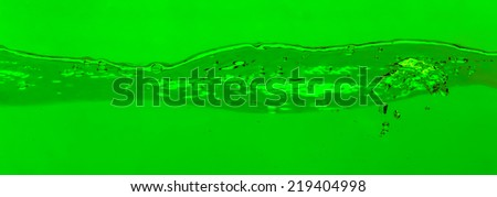 Green water and bubbles background