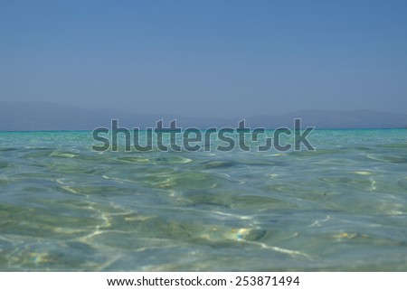 Green water background Crete Greece sea wave