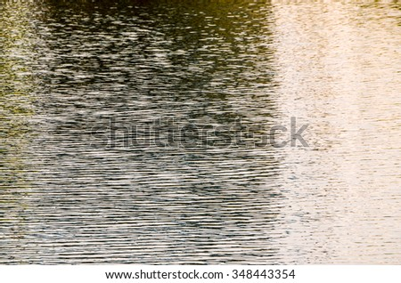 Green Water Pattern Texture Background with Ripples - stock photo