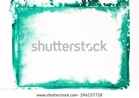 green watercolor painting background texture - stock photo