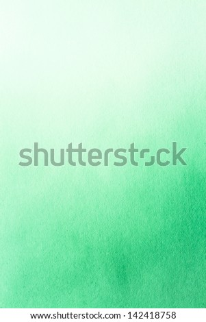 Green Watercolor Paper Texture For Artwork - stock photo