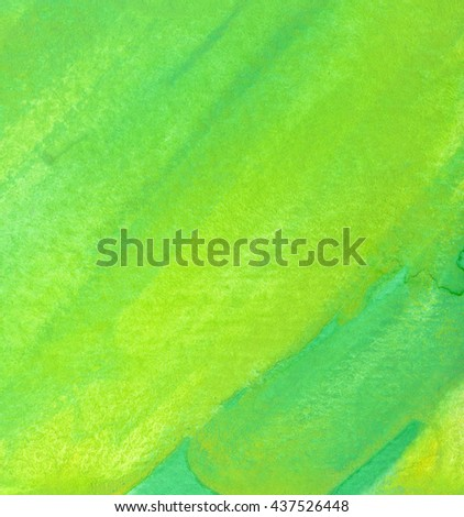 Green watercolor texture background. Hand paint texture, watercolor textured backdrop.