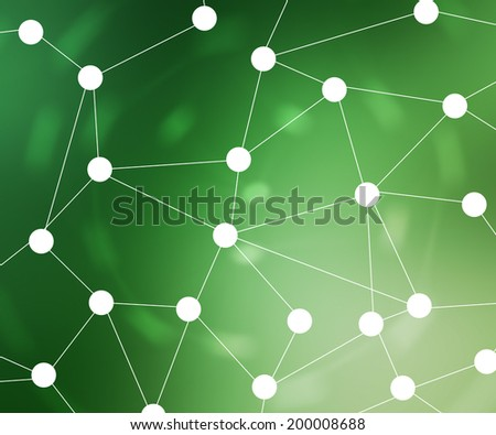 Green Web Network Background Image - stock photo
