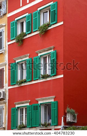 Green Window Shutters at Red House
